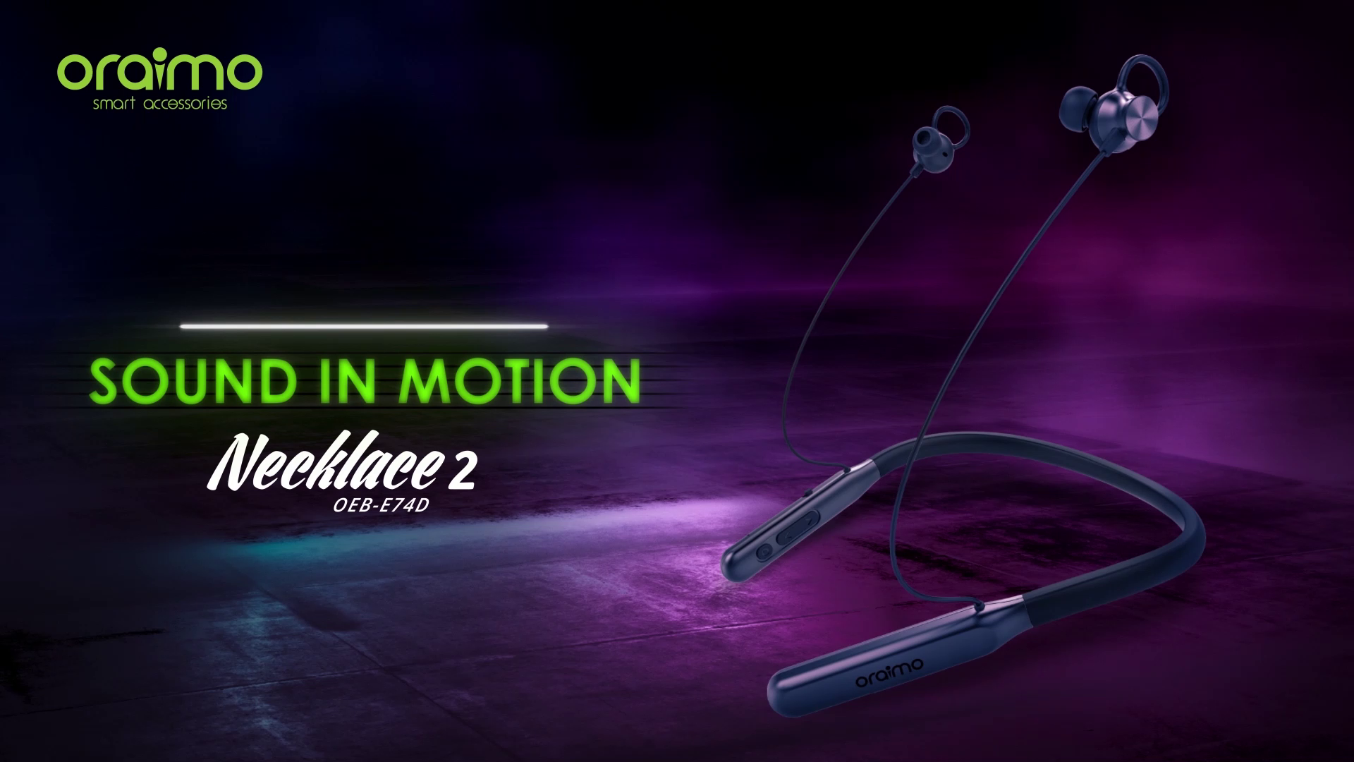 oraimo Necklace 2 Extreme Bass & Ultra Long Life: Amazon.in: Electronics