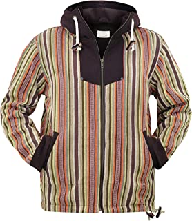 Baja Jacket Ethnic Clothing and Rasta Zip up Hoodie for Men S M L XL