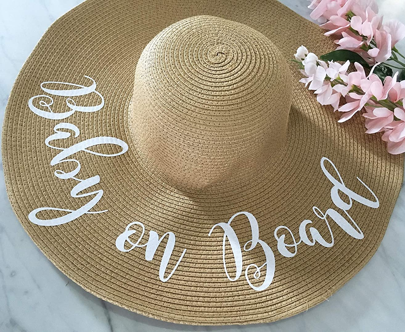 Baby on Board Straw Hat, Pregnancy Announcement