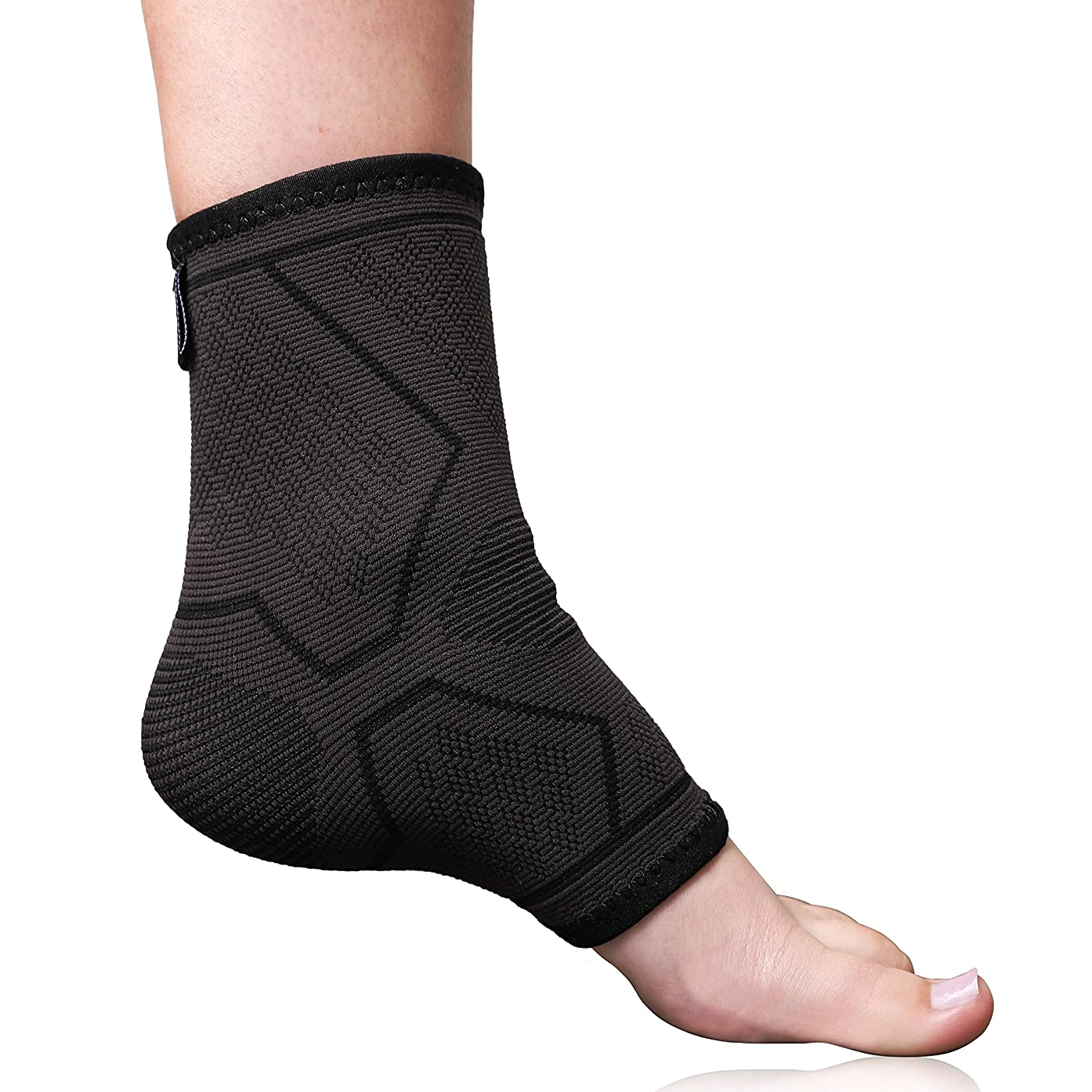 Fit Active Sports Ankle Brace Compression Support Sleeve for Pain Relief, Plantar Fasciitis, Achilles Tendon, Volleyball. Superior Ankle Stabilizer Foot Socks for Sprains, Men and Women