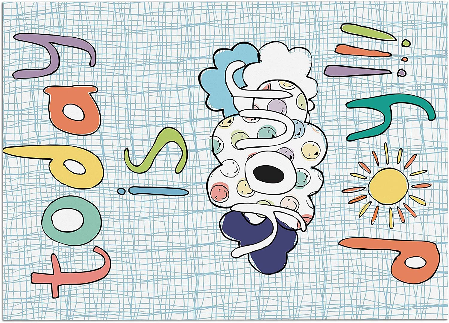 KESS InHouse MB3005ADM02 MaJoBV Today is Your Day bluee Cloud Dog Place Mat, 24  x 15