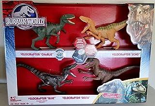 Jurassic World 2015 Toy Set Velociraptor Delta Dinosaur 4 Pack Exclusive