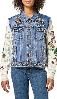 Desigual Women's CHAQ_ATHLAS Denim Jacket