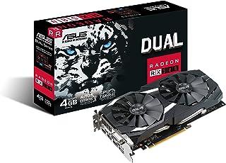 ASUS DUAL-RX580-4G Radeon RX 580 4 GB GDDR5 - Tarjeta gráfica (Radeon RX 580, 4 GB, GDDR5, 256 bit, 7680 x 4320 Pixeles, PCI Express 3.0)