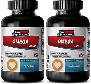 Omega-3 8060 Fish Oil Pharmaceutical Grade Supplement (2 Bottles,120 Softgels)