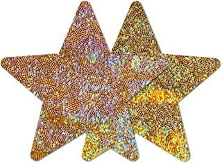 Nippies Style Gold Halo Star Waterproof Self Adhesive Nipple Cover Pasties