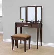 Frenchi Home Furnishing 2 Piece Home Furnishing Stool Set & Vanity