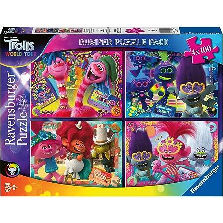 Ravensburger Puzzle 4 x 100 Bumper Pack, Multicolor (05067 3)