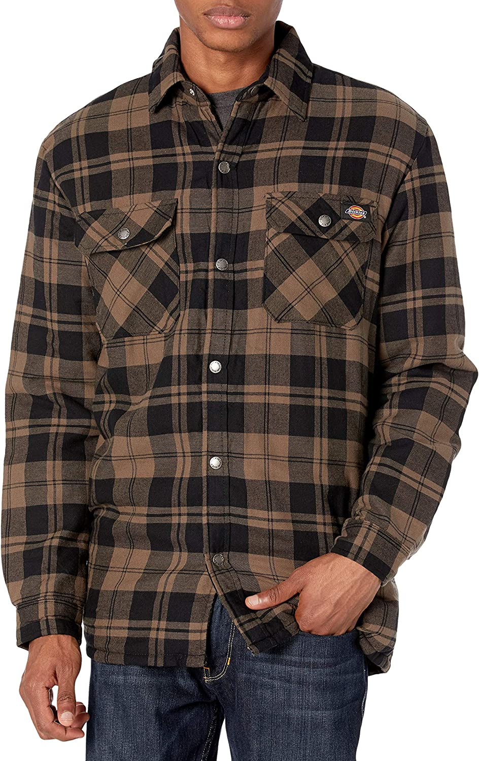 Dickies Men's Sherpa Lined Flannel depot with Shirt Hydroshield Limited time trial price Jacket
