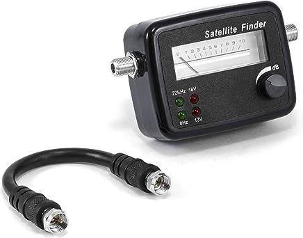 CSL - Localizador de satélites con escala   aguja indicadora/medidor con señal acústica   apto para HD   medidor de alta calidad para un posicionamiento/ajuste óptimo de antenas parabólicas/equipos parabólicos digitales   alta sensibilidad de entrada   re