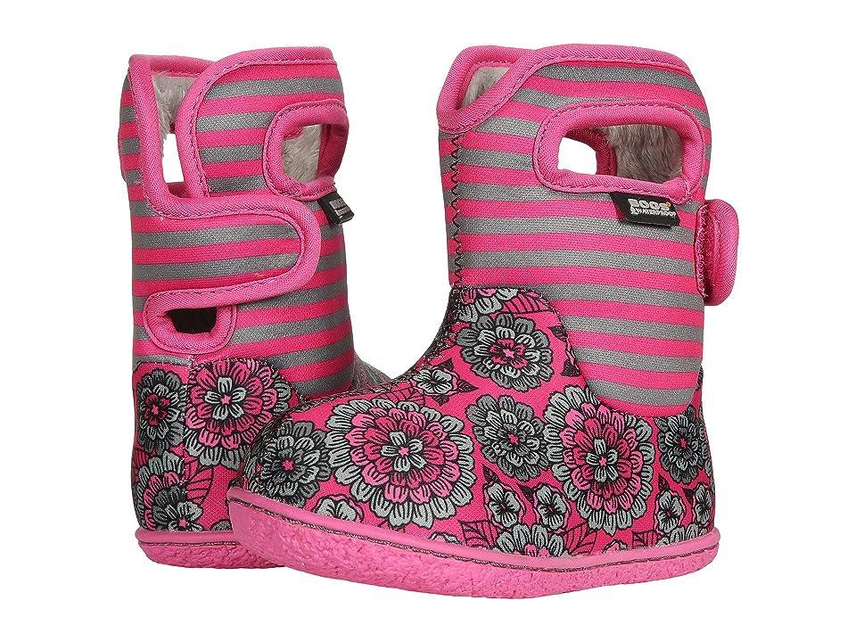 Bogs Kids Baby Bogs Pansy Stripe (Toddler) (Pink Multi) Girls Shoes