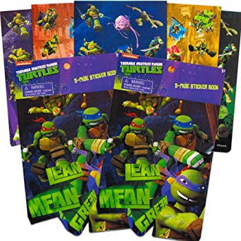 Bundle of 12 Sheets 240 Stickers plus 2 Specialty Stickers Stickerland SG/_B01N3AQFA3/_US Teenage Mutant Ninja Turtles Stickers Party Favors