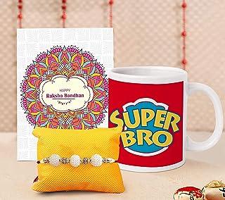 TIED RIBBONS Rakhi for Brother with Gift - Raksha bandhan Rakhi Bracelet Gifts Rakhi Coffee Mug with Wishes Card