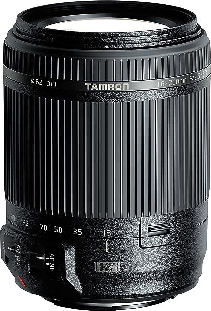 Tamron AF 18-200 mm F/3.5-6.3 XR Di II VC - Objetivo para cámara Canon (distancia focal 18-200mm apertura f/3.5-6.3 estabilizador óptico diámetro filtro: 62mm) color negro