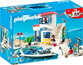 PLAYMOBIL® Harbor Police Station with Speedboat