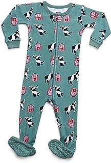 Baby Boys Girls Footed Pajamas Sleeper 100% Organic Cotton Kids & Toddler Pjs Sleepwear (6 Months-5 Toddler)