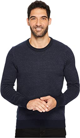 Perry Ellis Herringbone Crew Neck Sweater