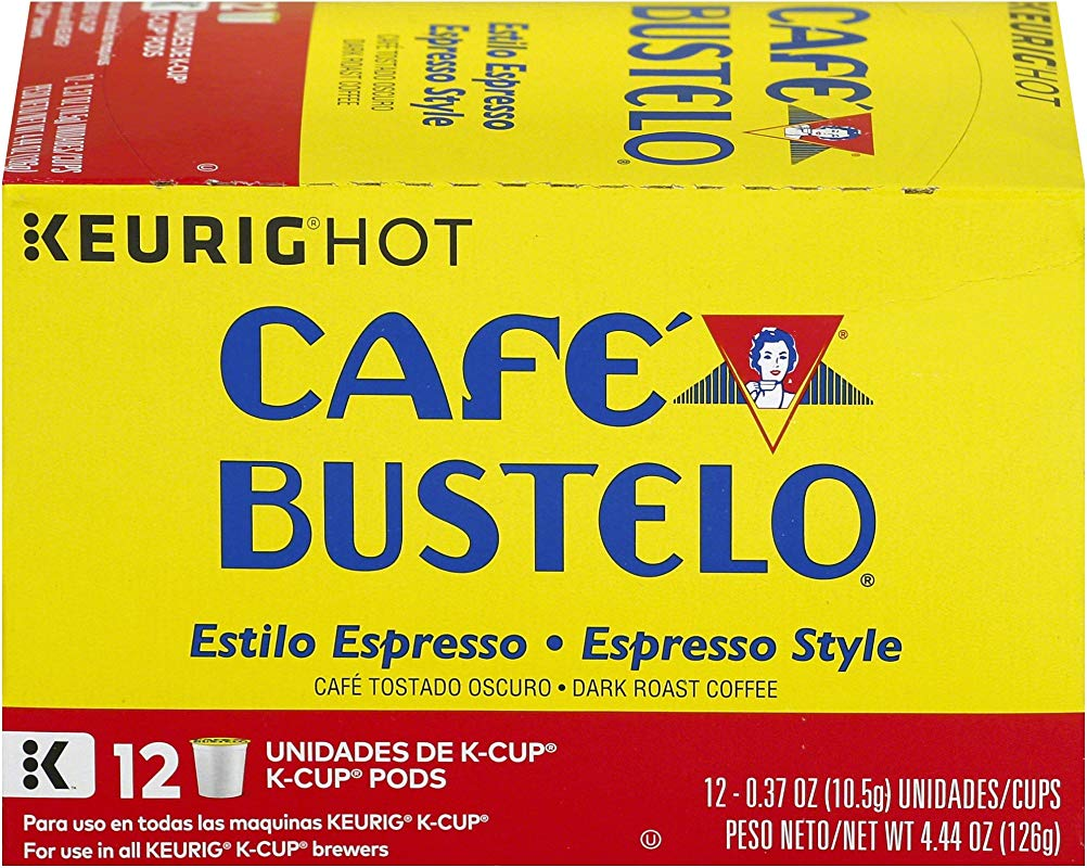 Cafe Bustelo Espresso Style K Cup Pods For Keurig Brewers 12 Count