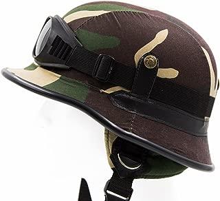 Vintage Camo Army Geman Half Helmet (M, L, and XL)