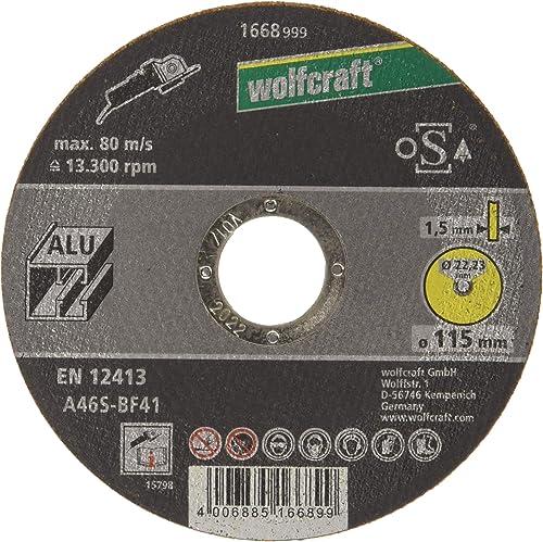 Wolfcraft (L) disco de corte para aluminio, granel, plata, PACK 1
