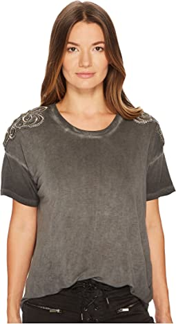 The Kooples - T-Shirt Avec Broderie Bandbourg Epaules