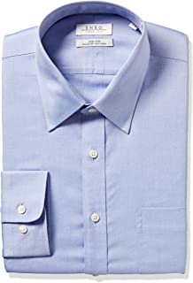 Enro Men's Classic Fit Solid Point Collar Dress Shirt