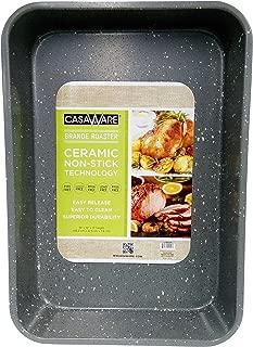 casaWare Grande Lasagna/Roaster Pan 18 x 12 x 3-Inch - Extra Large, Ceramic Coated NonStick (Silver Granite)