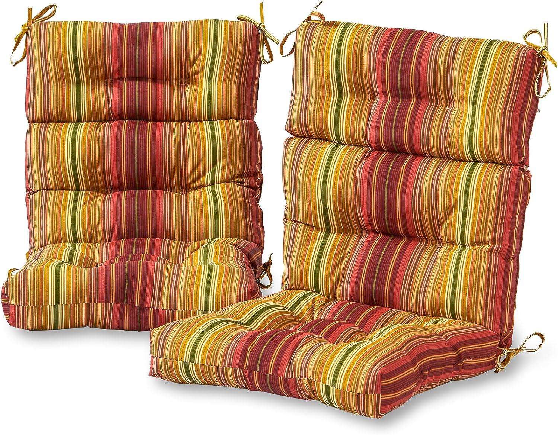 Greendale Home Fashions AZ6809S2-KINNABARI Raleigh Mall Stripe Outdo Ranking TOP2 Cinnamon