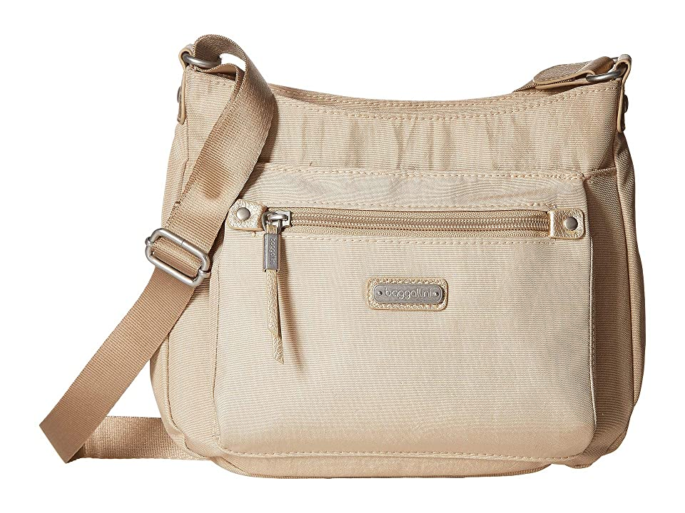 Baggallini New Classic Uptown Bagg with RFID Phone Wristlet (Champagne Shimmer) Bags