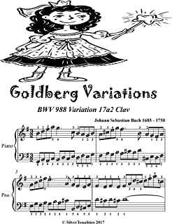 Goldberg Variations BWV 988 Variation 17a2 Easy Piano Sheet Music Tadpole Edition