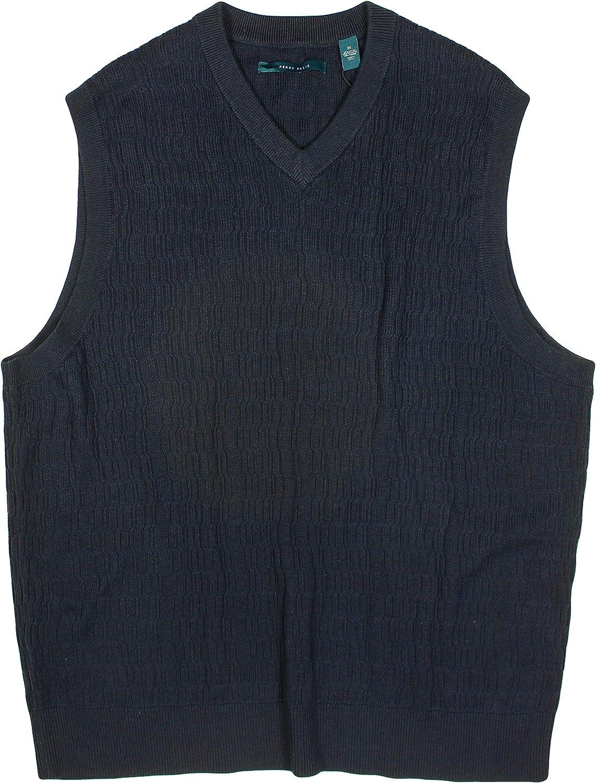 Perry Ellis Men's Vest Big and Tall Knit Pullover Vest