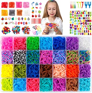 18,980+ Rubber Bands Refill Loom Kit, 37 Colors Loom Bands,1000 S-Clips, 280 Beads, 52 ABC Beads, Tassels, 10 Backpack Hoo...