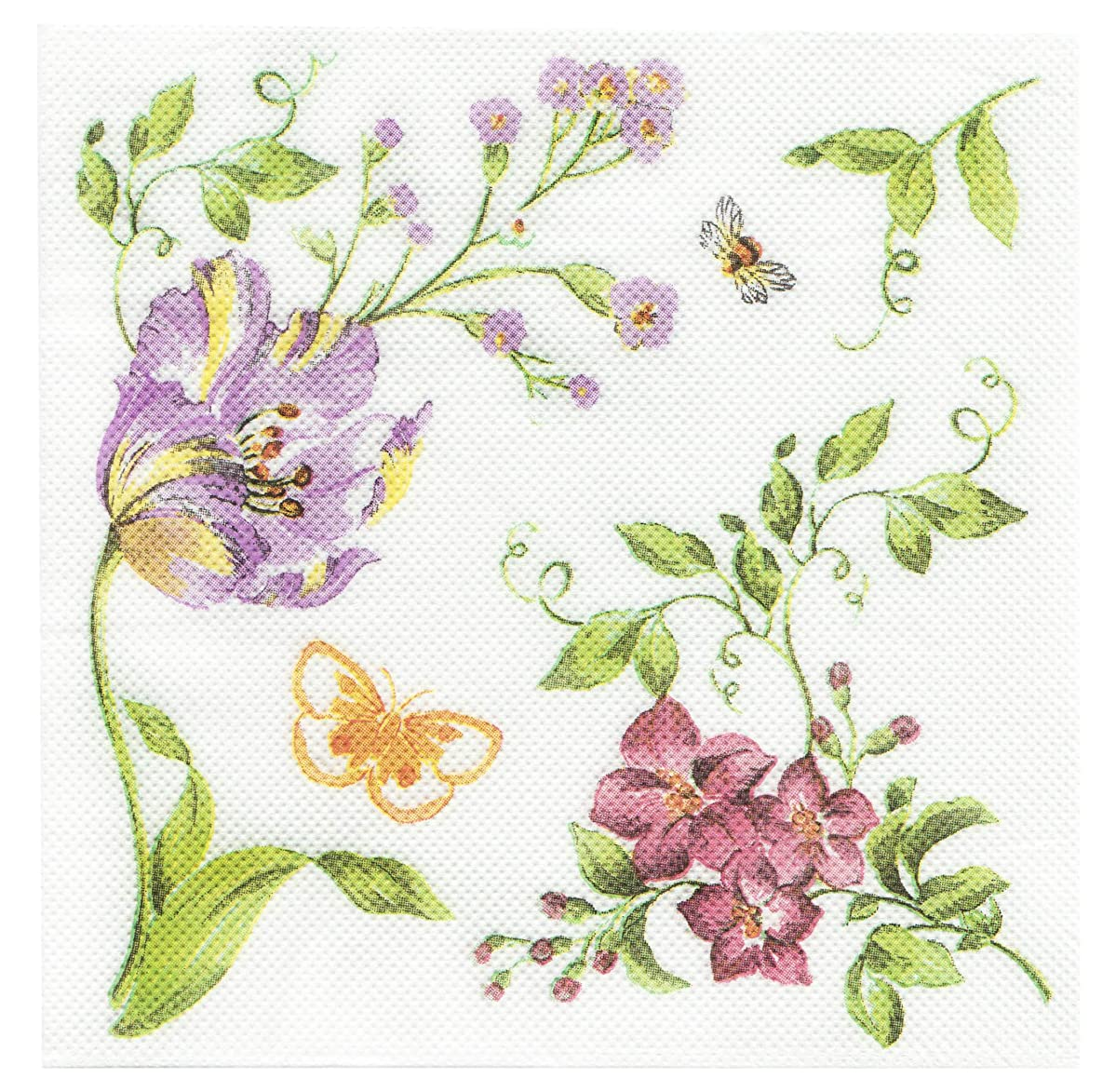 Salome Idea 60 Counts Shower Tea Party Birthday or Wedding Party Napkins,Romatic Floral Napkins(Romatic Floral 30)