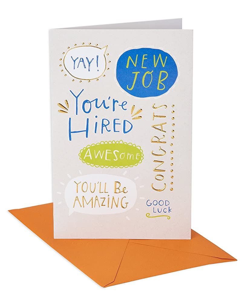 American Greetings You're Hired New Job Congratulations Card with Foil