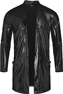 Best shiny black jacket men Reviews