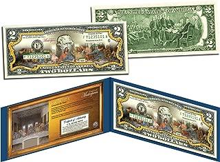 LAST SUPPER by Leonardo da Vinci Genuine Legal Tender Colorized U.S. $2 Bill