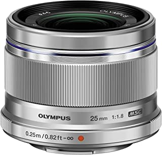 Olympus M.Zuiko Digital 25mm F1.8 Lens, for Micro Four Thirds Cameras (Silver)