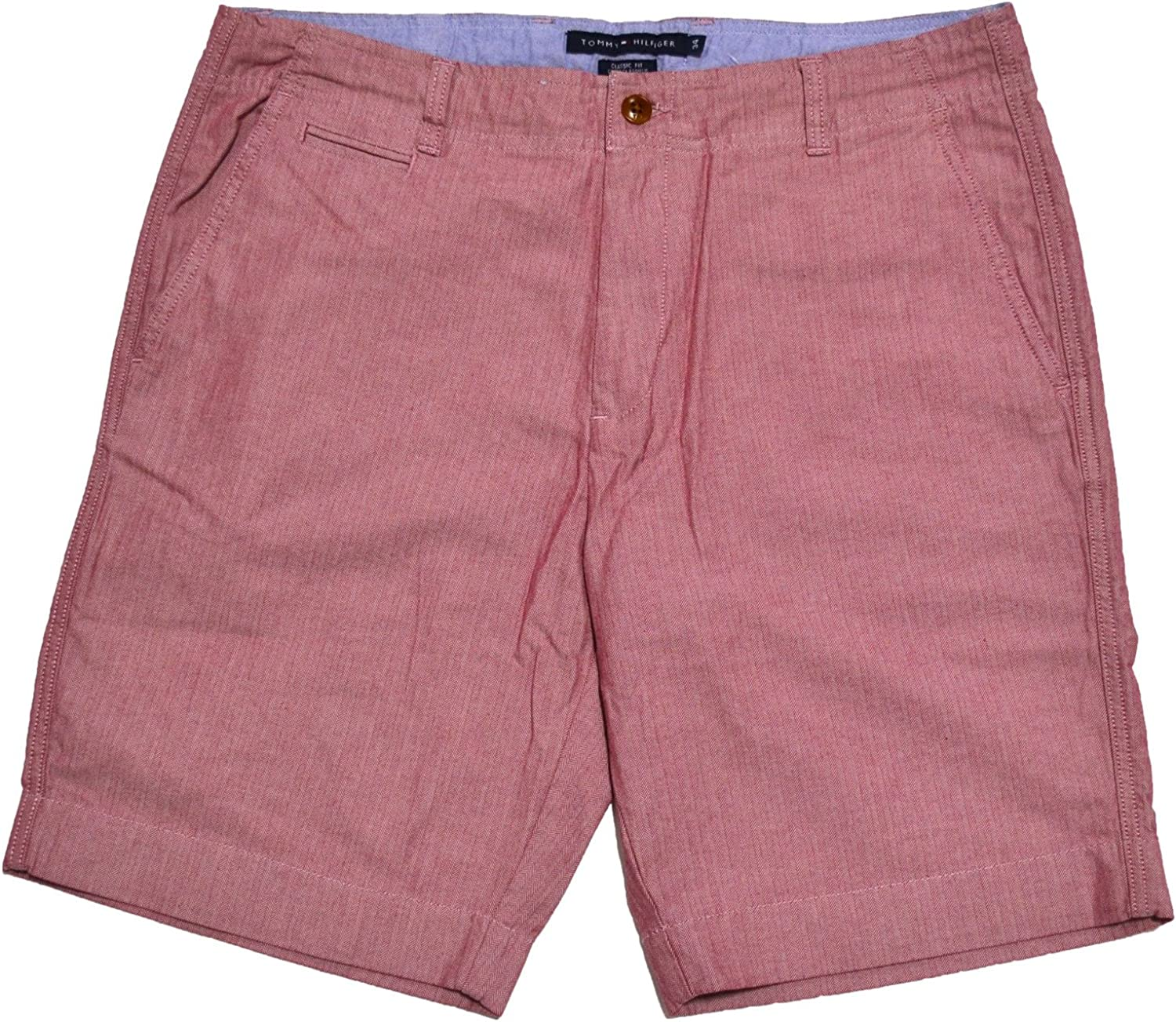 Tommy Hilfiger Men's Academy Flat Front Beet Short Red Chino free shipping Super-cheap