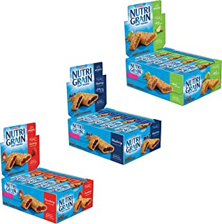 Kellogg's Nutri-Grain, Soft Baked Breakfast Bars, Assorted Pack, 1.3oz (48Count)
