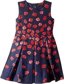 Degrade Poppies Mikado Party Dress (Toddler/Little Kids/Big Kids)