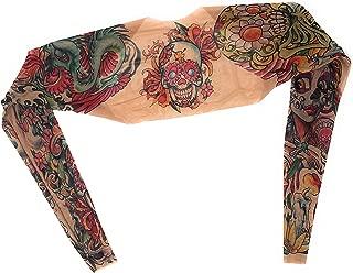 Wild Rose Ladies Tattoo Sleeve Mesh Shrug Bolero Crop Jacket Fake Slip On Back Arm Stocking