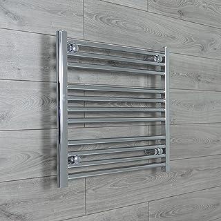 Radiador Toallero Térmico Recto Plano de Baño de 650mm de ancho x 600mm de alto para Calefacción Central