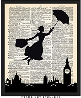 Mary Poppins Dictionary Wall Art Print: Unique Room Decor for Boys, Men, Girls & Women - (8x10) Unframed Picture - Great Motivational Gift Idea Under $15