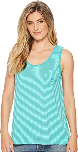Fresh Produce - Pinstripe Siesta Key Pocket Tank