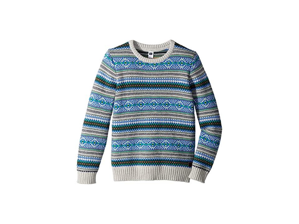 Janie and Jack Fair Isle Crew Neck Sweater (Toddler/Little Kids/Big Kids) (Green/Gray) Boy