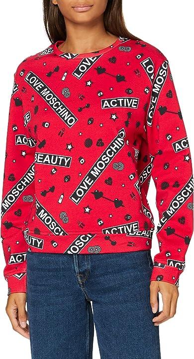 Maglia donna love moschino sweatshirt maglia di tuta donna W 6 306 00 M 4208