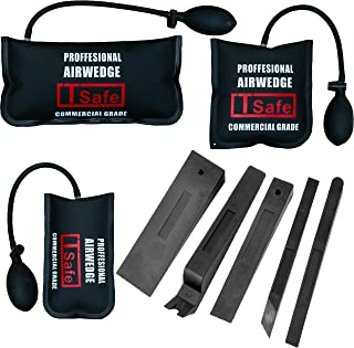 TSafe Professional Air Bag and Wedge Kit- 3 Air Bags and 5 Wedges/Shims- Commerical Grade Leveling Kit