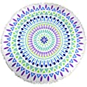 Thick Round Yoga Mat Mandala Beach Towel with Fringe Tassels