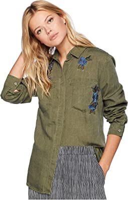 Long Sleeve Shirt with Embroidery Detail