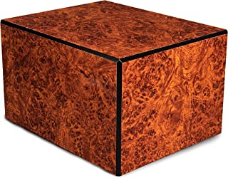 Chateau Urns - Society Collection - Large - Adult Cremation Urn - Pet Cremation Urn - Memorial Box for Ashes - Burl Finish